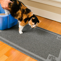 Cat Litter Mat Extra Large 90x60cm Stops All Dirt Tracking and Scatter From Box Phthalate & BPA Free
