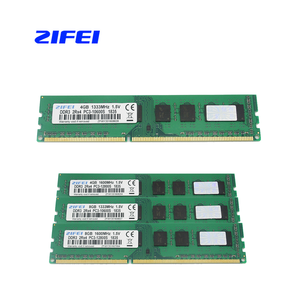 ZIFEI DDR3 4GB 8GB 2Rx4 1600Mhz 1333MHz DIMM Desktop Memory RAM For AMD Socket AM3 AM3 Motherboard