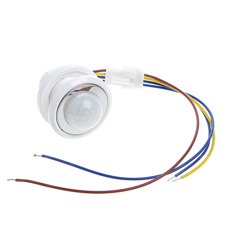 40mm LED PIR Detector Infrared Motion Sensor Switch with Time Delay Adjustable odm 9 40mm mercury switch position sensor 220v 2a