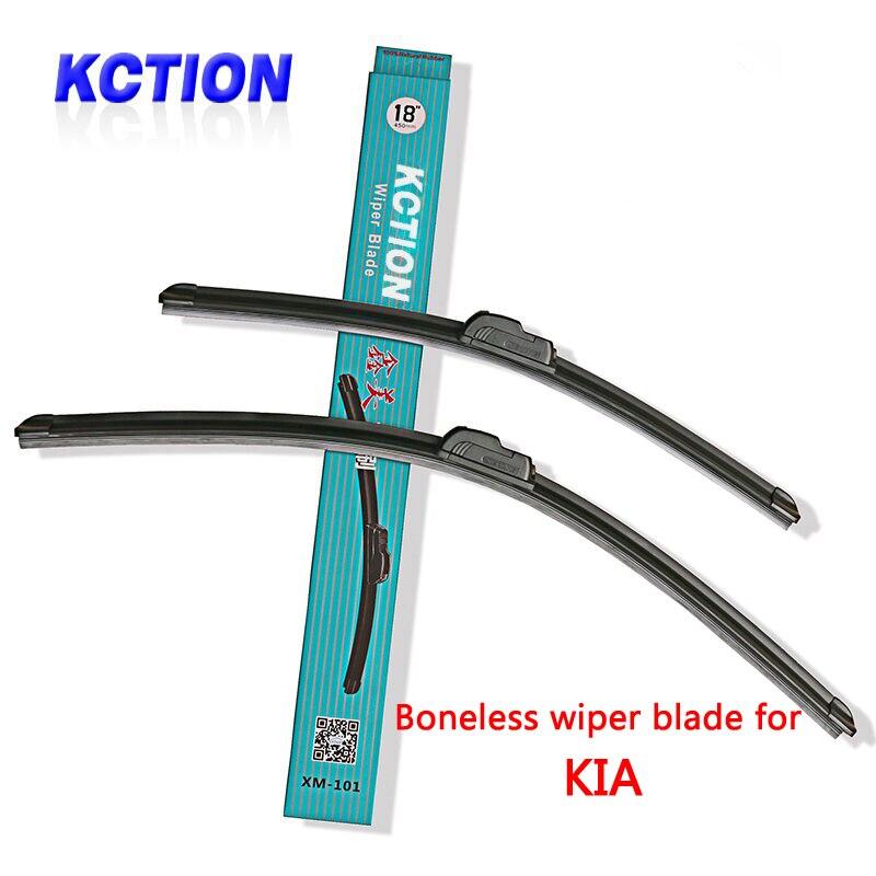 Car Windshield Wiper Blade For <font><b>Kia</b></font> Soul Rio Sorento Sportage R K5 Venga Optima,Natural rubber,Bracketless, Car Accessories