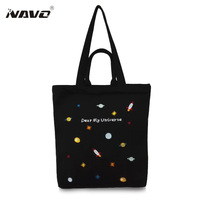 Fashion Female Canvas Beach Bag Fresh Embroidery Casual Tote Women Canvas Handbag Daily Use Single Shoulder