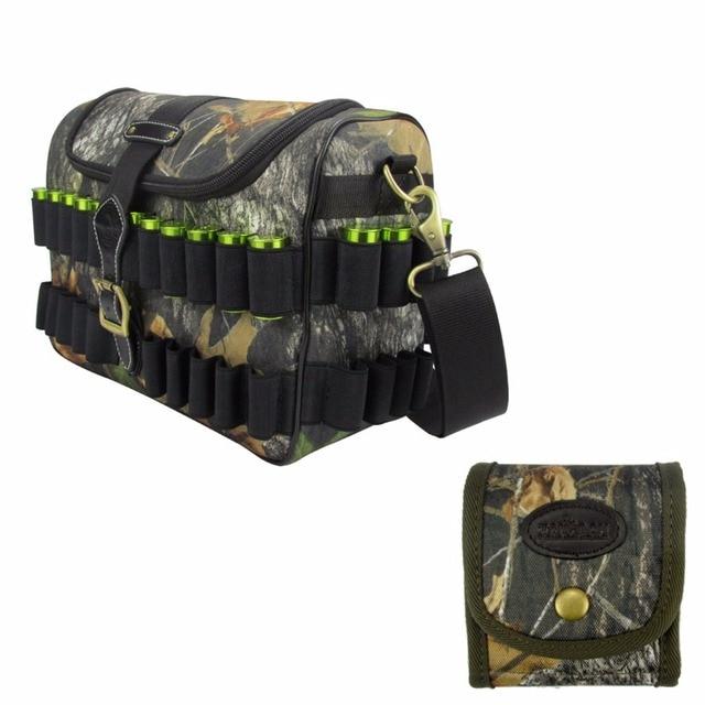 Tourbon Hunting Shotgun Cartridge Bag Camo Side 12Gauge Ammo Carrier Holds  100 Shells Cartridge Holder for