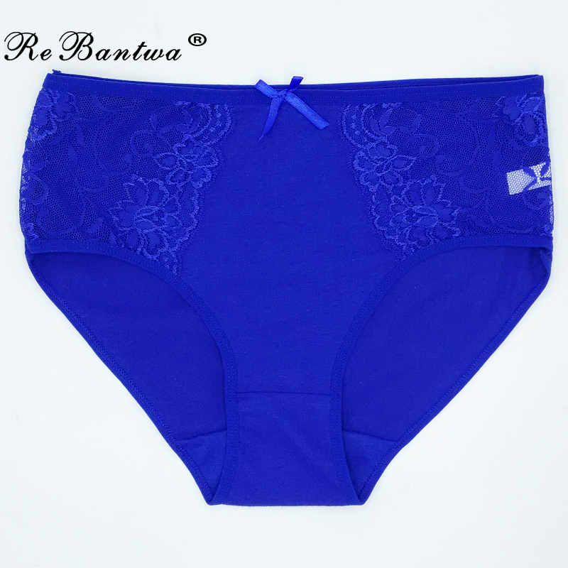 1 Piece Big Size Ladies' Lace   Panties   Plus Size XXL 3XL 4XL 5XL Briefs Women Cotton Underwear Breathable Briefs Woman Lingeries