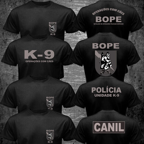 New Brazil Swat Bope Special Forces Police K-9 Dog Canine Canil Unit 2019 Funny Cotton Casual Top Tee Printed T Shirt