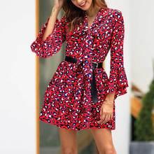 a66fde4945a LELINTA Drucken Slim Flare Hülse Kleider Frauen Eleganten Bogen Ausschnitt  Mode Pleate Cupcake Kleid Elastische Atmungsaktive