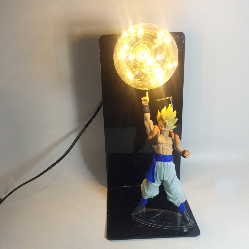 Whole set Goku Son Spirit Bomb Dragon Ball Z Night Lamp Home Table Decor Lamp RGB Blue Red Green Lighting Choice 110V 220V 127V