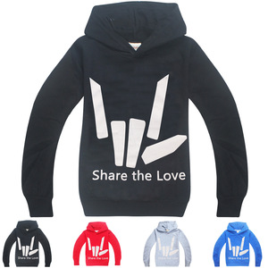 T-Shirt Graphic Share The Love Tshirt for Kids Baby Boy Shirt Youtuber Stephen Sharer 2019 Teens Top Tees Clothes Hoodie Shirts(China)