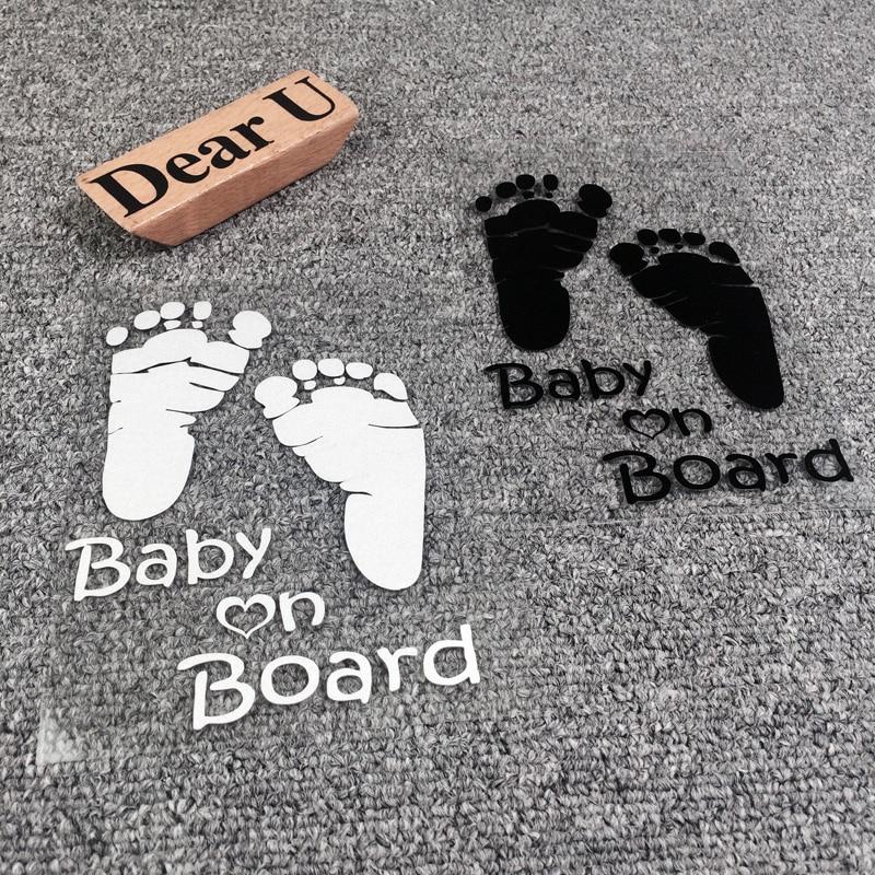 Jeazea Universal Funny Cute Waterproof Car Stickers Baby
