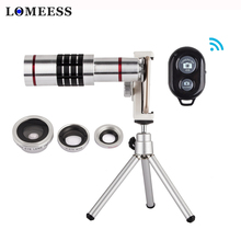 4 in 1 Cellphone Lens Kit 18X Telephoto Zoom Fisheye Wide Angle Macro Lens Telescope With Clip Tripod For Smartphone Camera