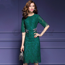 Cuerly 2019 Women Summer Dress Fashion Dragonfly Beading Lace Runway High Quality Luxury Designer Elegant Party Dresses