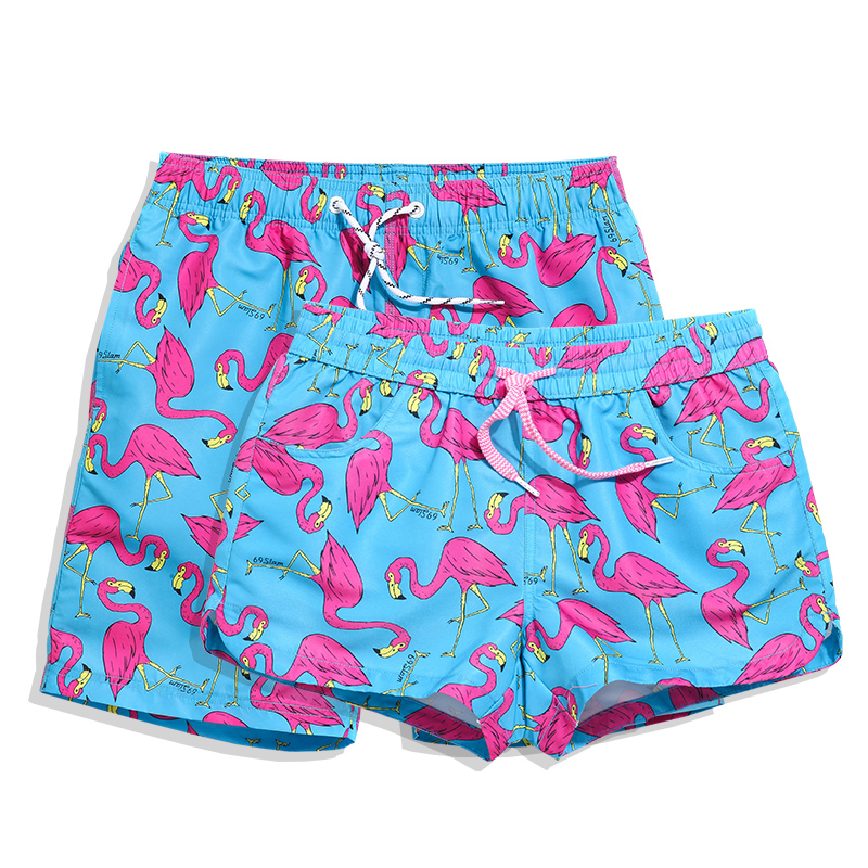 Mens Casual Swim Trunks Lucky Clover Happy St Patricks Day Beach Shorts with Elastic Waist