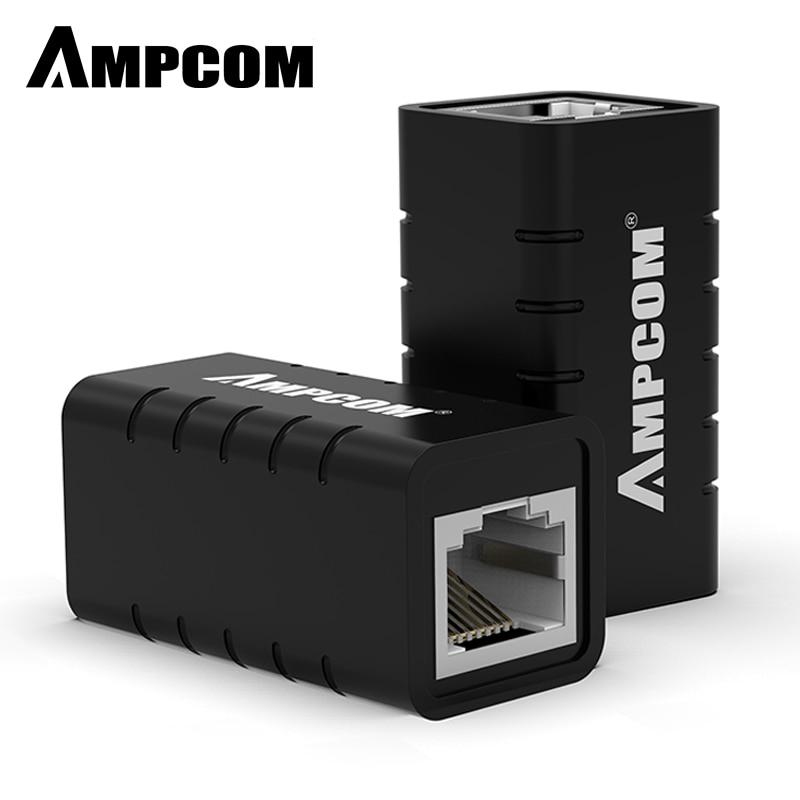 AMPCOM RJ45 муфта 8P8C f-удлинитель Разъем LAN адаптер Встроенный Cat7/Cat6/Cat5e кабель Ethernet-молниезащиты