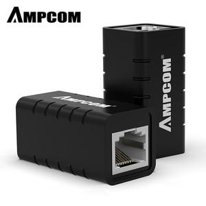 Image 1 - AMPCOM RJ45 מצמד 8P8C נקבה extender LAN מחבר מתאם inline Cat7/Cat6/Cat5e Ethernet כבל ברקים הגנה
