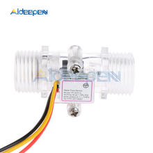 """Water Flow Sensor Switch G1/2"""" Fluid Flow Meter Water Control Transparent Enclosure DC 5 15V use for Water Heaters etc"""