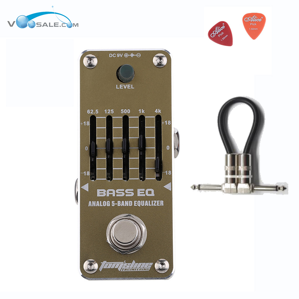 Aroma AEB-3 BASS EQ Analog 5-Band Equalizer Guitar Effect Pedal Mini Single Pedal Effects With True Bypass and Free Cable aroma adr 3 dumbler amp simulator guitar effect pedal mini single pedals with true bypass aluminium alloy guitar accessories