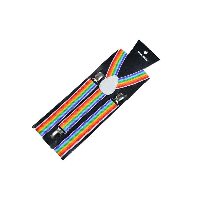 200pcs/lot Fashion New Mens Womens Unisex Clip-on Suspenders Elastic Y-Shape Adjustable Braces Colorful Free Shipping