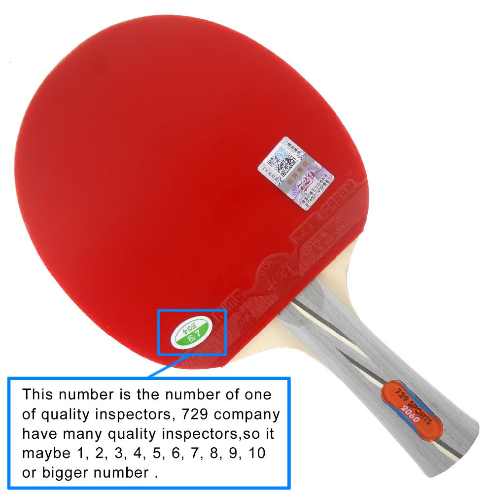 RITC <font><b>729</b></font> Friendship 2060# Pips-In Table Tennis Racket with Case for PingPong Shakehand long handle FL image