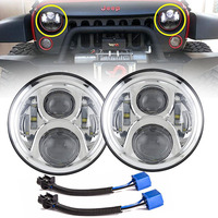 For Jeep wrangler Lada Niva 4x4 7INCH LED Headlight 7 Car Headlamp Replacement Bulb with H/Lo Beam Lamp