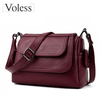 Fashion Woman Bag Leather Cross Body Bag Women Messenger Bags Female Shoulder Handbag 2017 Crossbody Bags