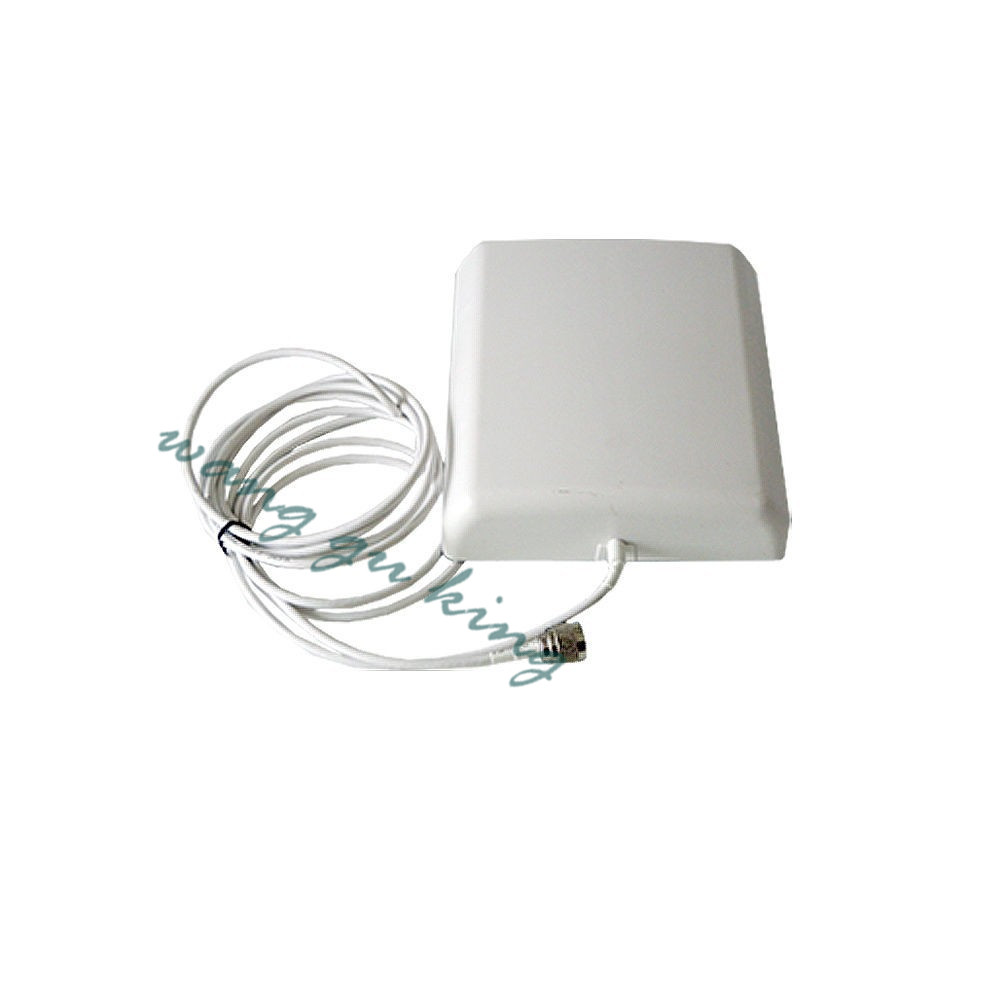 800-2500MHz 9dBi Indoor Directional Panel Antenna With 5m Cable For Gsm 3g Wcdma Dcs Signal Repeater Booster Amplifier