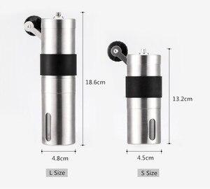Image 2 - 2 サイズマニュアルセラミックコーヒーグラインダーステンレス鋼調節可能なコーヒー豆ミルゴムループリング簡単にきれいなキッチンツール