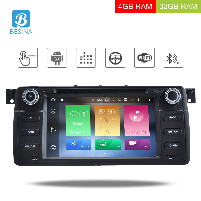 Besina 7 inch 1 Din Android 6.0 Car DVD Player For BMW E46 M3 Rover 3 Series 2G RAM 32G ROM GPS Navi Wifi Radio Multimedia USBBesina 7 inch 1 Din Android 6.0 Car DVD Player For BMW E46 M3 Rover 3 Series 2G RAM 32G ROM GPS Navi Wifi Radio Multimedia USB