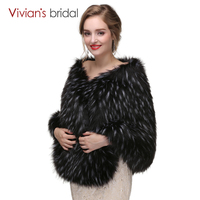 Warm Faux Fur Cape Wedding Accessories Two Color Winter Bridal Capes Wedding Wrap