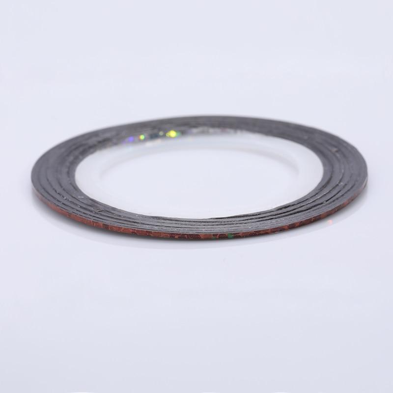 2 мм матовый блеск для ногтей, Чередование ленты линия разноцветные, для ногтей инструмент для укладки волос Стикеры наклейка DIY украшения для ногтей - Цвет: 23