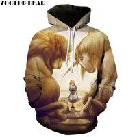 Funny Cartoon Printed Hooded Sweatshirts Men Women 3D Hoodies Casual Pullover Male Tracksuits Brand Jacekts ZOOTOP BEAR