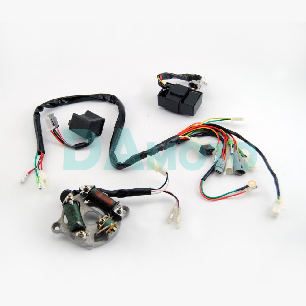 Wiring Harness Loom Ignition Switch Cdi Unit Magneto Stator Assembly Yamaha For Pw50 In Motorbike Ingition From Automobiles Motorcycles On