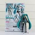 Anime Volcaloid Hatsune Miku Figura 15 cm Figma 014 Figura de Acción DEL PVC Colección Modelo de Juguete Muñeca Regalos de Navidad Con la Caja
