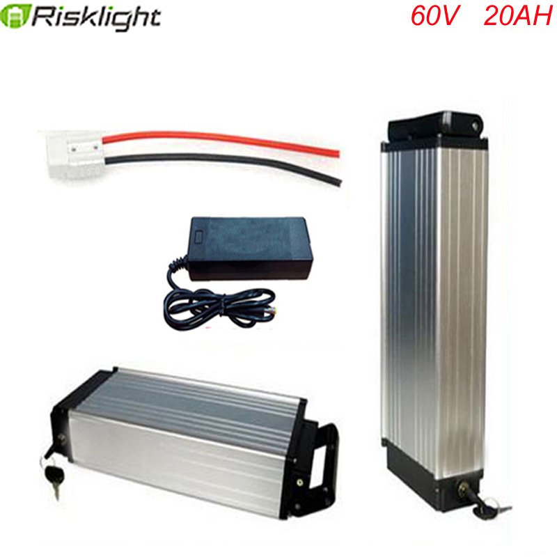 ebike lithium battery 60v 20ah lithium ion font b bicycle b font 60v 2000w electric scooter