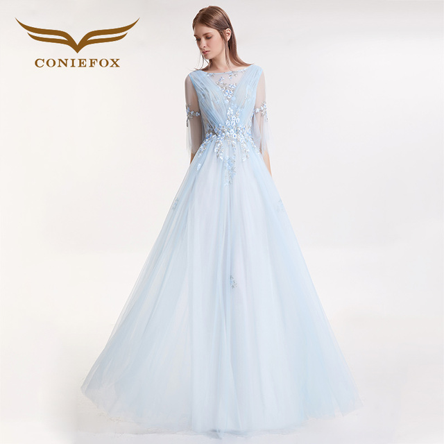 Abendkleid Toast Appliques Kleider Coniefox Retro Kleid Backless Us338 0coniefox 32099 Blau Damen Party Sexy Eleganz In Prom Lang Festliche E2YW9DHI
