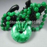 KYSZDL nuevos directos de fábrica al por mayor de lujo boutique de Ping Yang yu verde broche de piedra collar suéter cadena colgante de regalo de la joyería