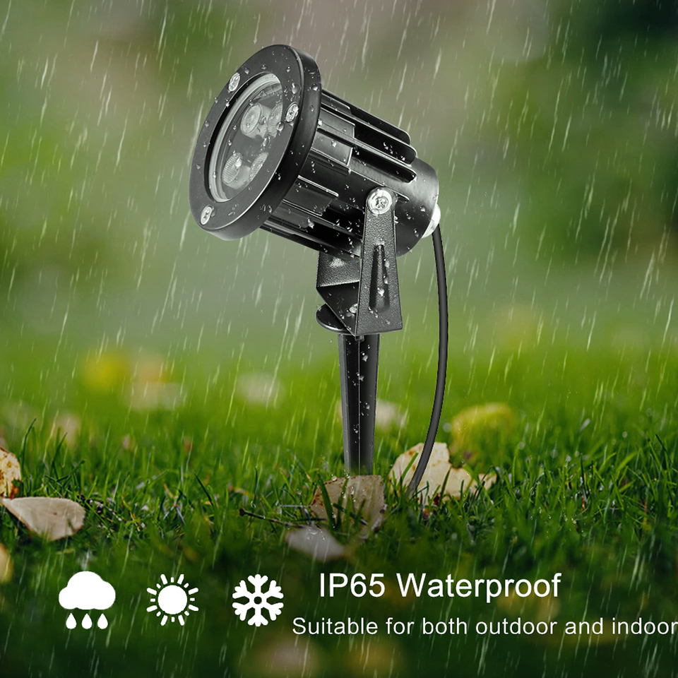 DCOO 8/8/8W RGB LED Lawn Lamp Waterproof IP8 Led Garden Lighting Outdoor  Landscape Lights For Yard 8 28V With Plug Remote