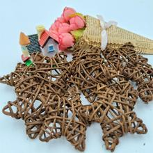 10PCS 6CM Rattan Star Sepak Takraw Christmas Lovely /Birthday&Home Wedding Party Decorations DIY Ornaments Ball Kids Toy
