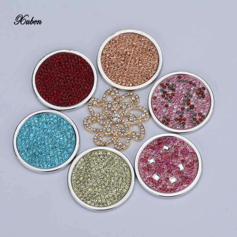 Classic 33mm coin necklace disc deluxe crystal Multi color Christmas gift fit 35mm coins holder 2017 pendant & necklace