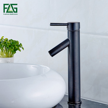 Vintage Style Oil Rubbed Bronze Faucet Black and Tall Bathroom Faucets Brass Finish Washbasin Taps