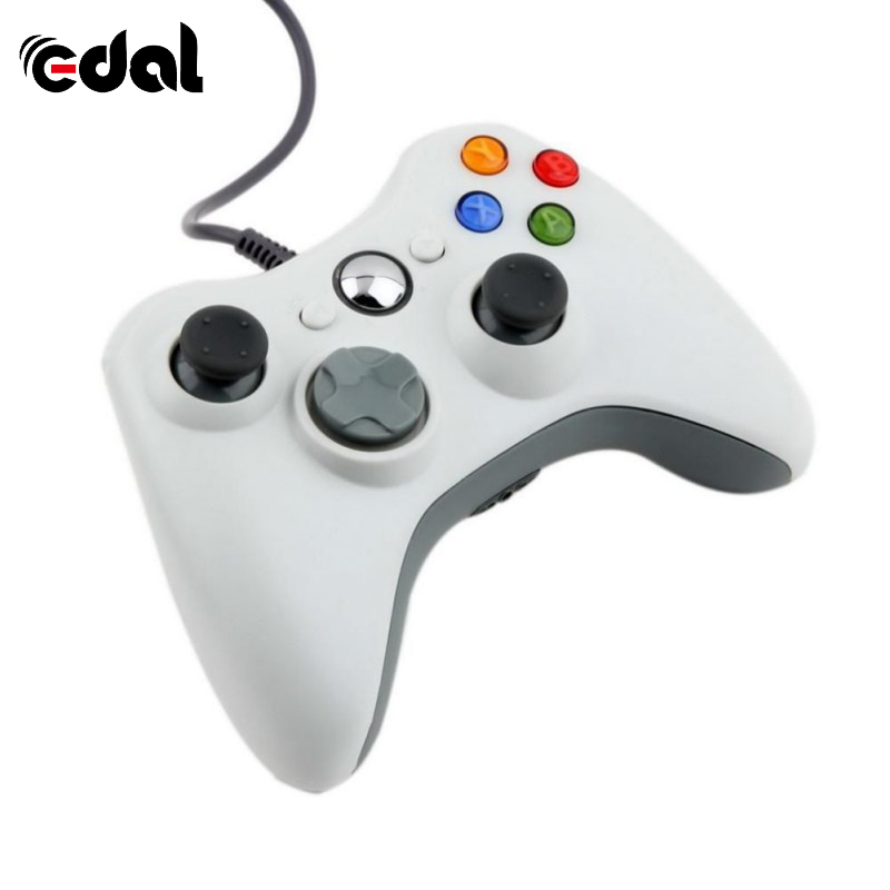 edal white wired joypad portable gamepad controller for