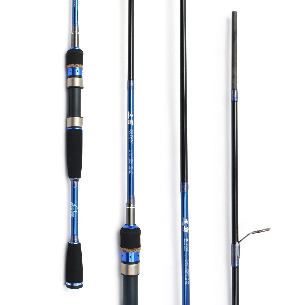 Bobing BG702 2.1m Lure Rod 2 Tips M ML Power Carbon Fiber Fishing Pole 28-227g Lure Weight Spinning Casting Rod Pole Bear 5KG