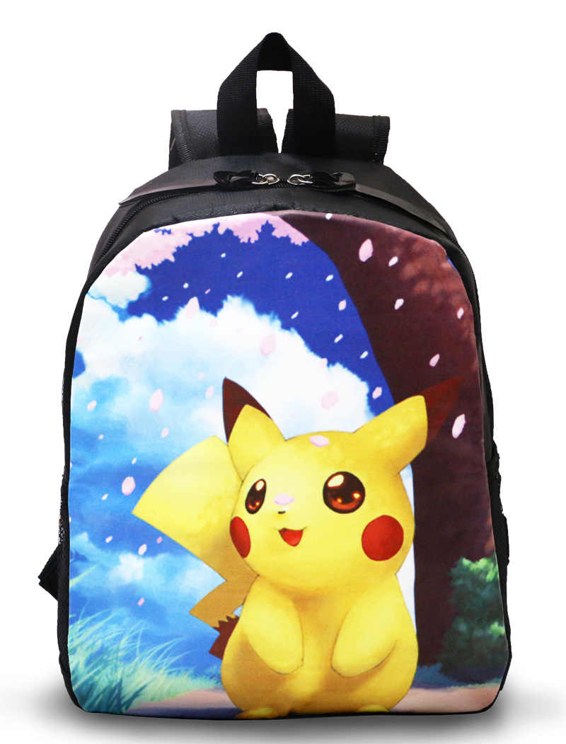 36ab9bf397 cute nylon kid backpacks student bags Pokemon Pikachu backpacks cheap anime  backpacks gift for fans NB028