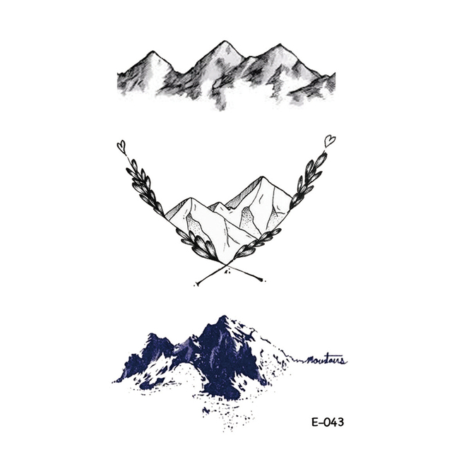 Wyuen Nouveau Design Montagne Tatouage Faux Impermeable Temporaire