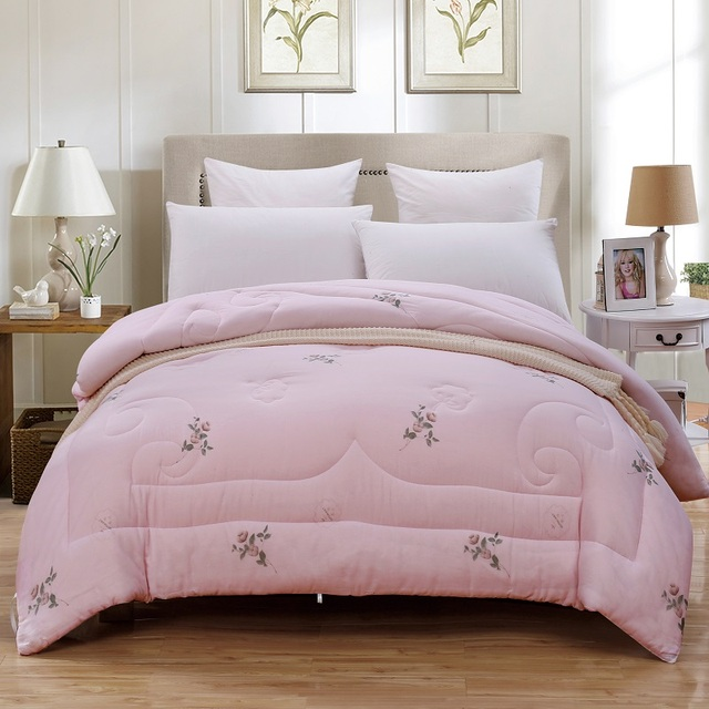 100 Cotton Filling Comforter Duvets Pillows Bedding Sets Full Queen King Size S