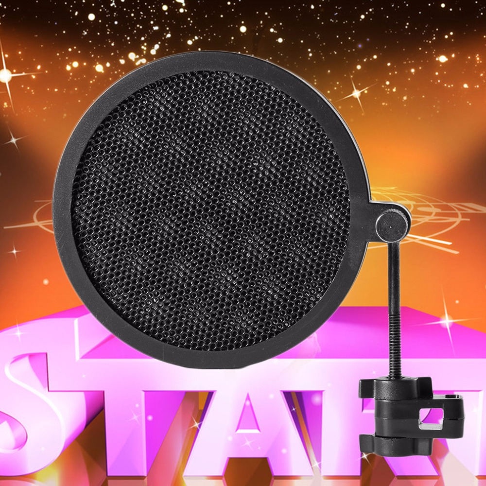ps 2 double layer studio microphone mic wind screen pop filter swivel mount mask shied for. Black Bedroom Furniture Sets. Home Design Ideas