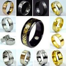 Мужское кольцо из нержавеющей стали, черное кольцо из титановой стали, высокое качество, ювелирные изделия и женские