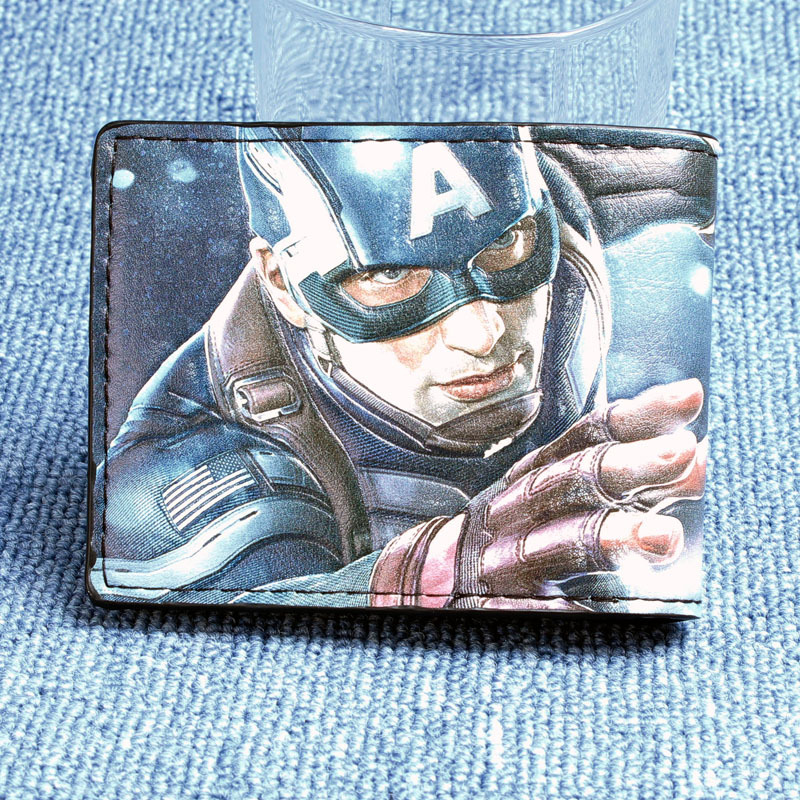 Marvel Captain America Bi-Fold Wallet  DFT-1007A star trek command metal logo bi a fold wallet dft 1404