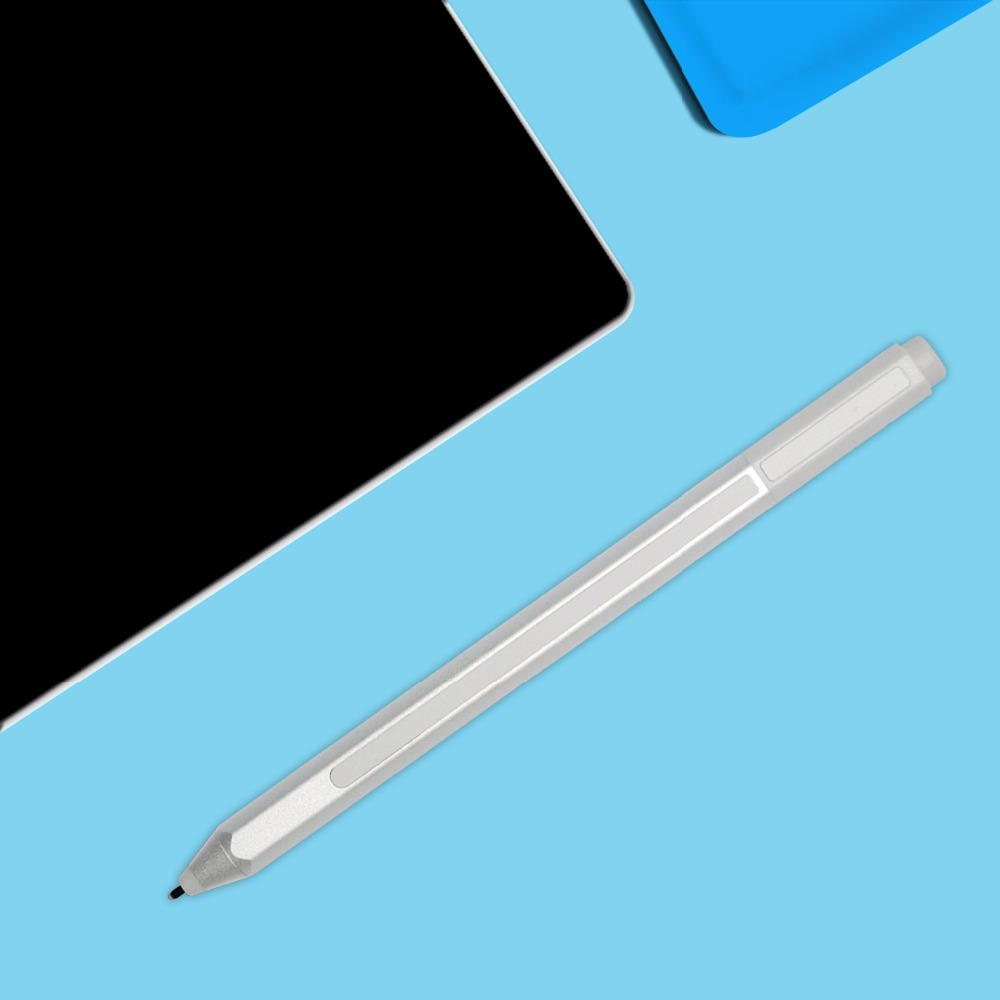 Genuine New Stylus Pen for Microsoft Surface Pro 3 Pro 4 Silver Blutooth Capacitive Ballpoint