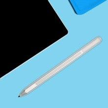 Подлинная новый стилус + заправка для microsoft surface pro 4 серебряный сенсорный емкостный шариковая пополнения