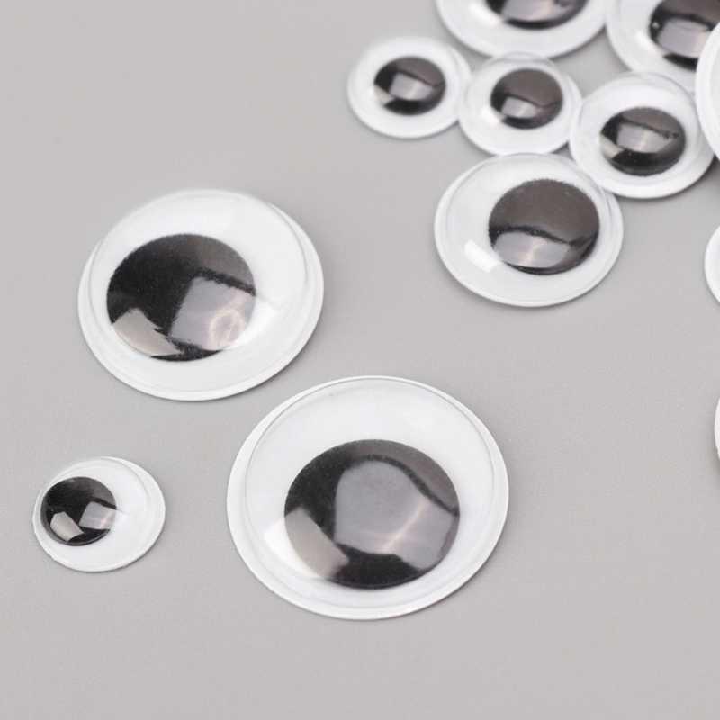 100 шт. Wiggly Googly Eyes самоклеющиеся предметы для скрапбукинга для игрушки куклы