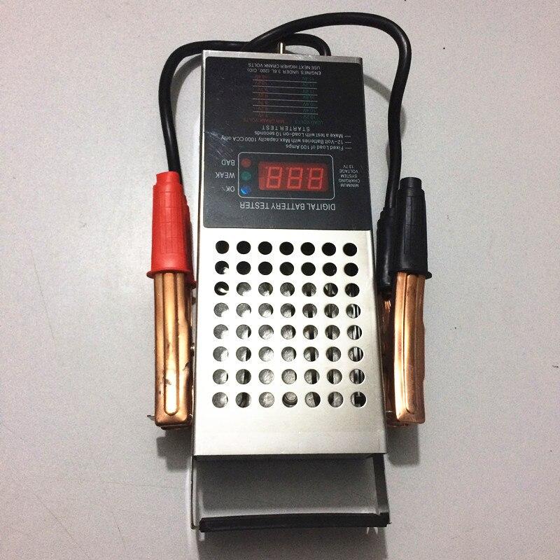 Digital de la batería probador instrumento de medición medidor de Voltaje de des